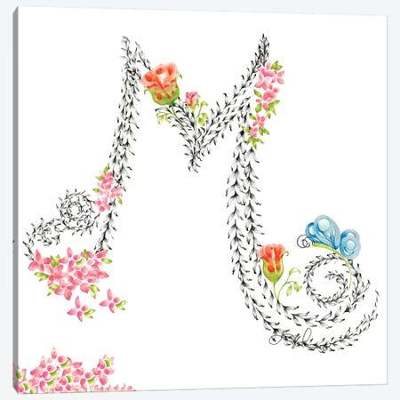 Letter M Canvas Print #JHB37} by Joanna Haber Art Print