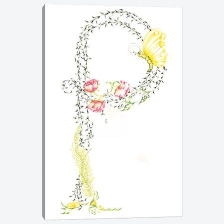 Letter P Canvas Print #JHB39} by Joanna Haber Canvas Art