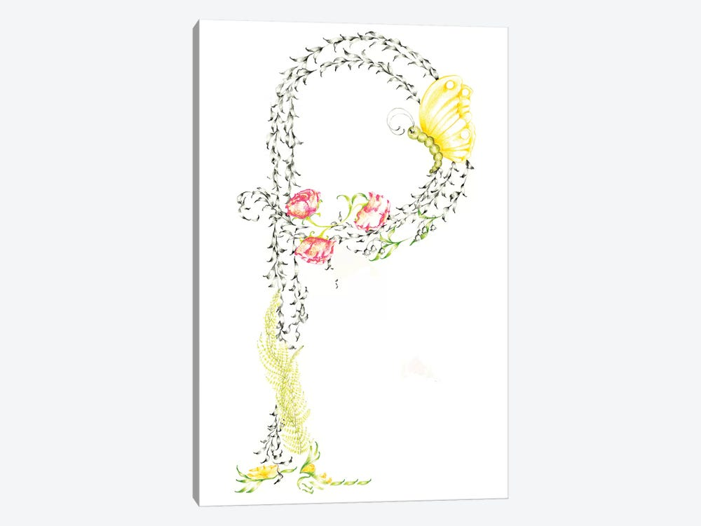 Letter P by Joanna Haber 1-piece Canvas Print