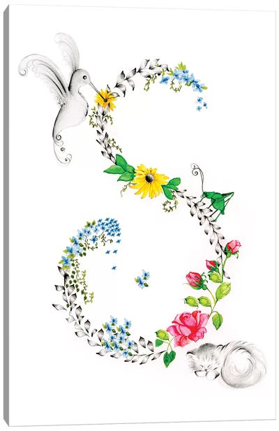 Letter S Canvas Art Print
