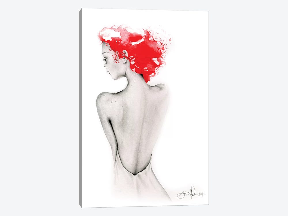 Bashful by Joanna Haber 1-piece Canvas Art Print