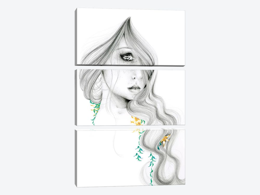 The Beauty Within by Joanna Haber 3-piece Canvas Print
