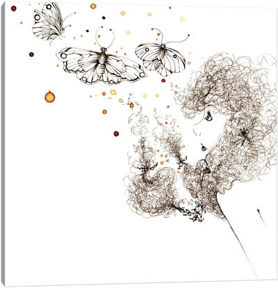 Butter Fly Kisses Canvas Art Print
