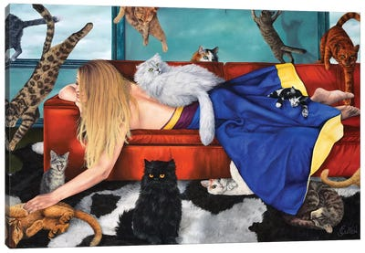 Les Aristochats Canvas Art Print