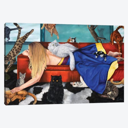 Les Aristochats Canvas Print #JHC17} by Johanne Cullen Canvas Art
