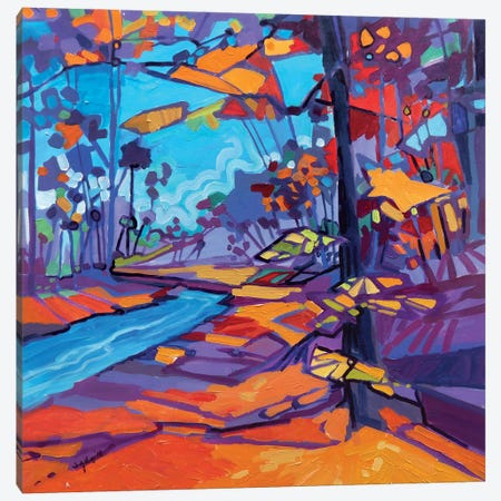 Akron Park Autumn Abstracted Canvas Print #JHD42} by Judy Hodge Art Print