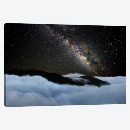 Rivers In The Sky Canvas Print #JHF11} by John Fan Canvas Artwork