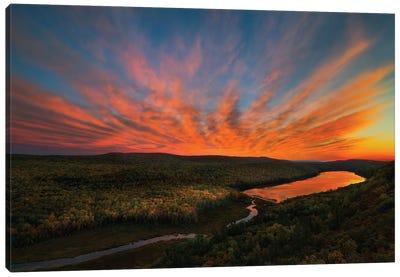 Sunset Over Porcupine Mountains Canvas Art Print