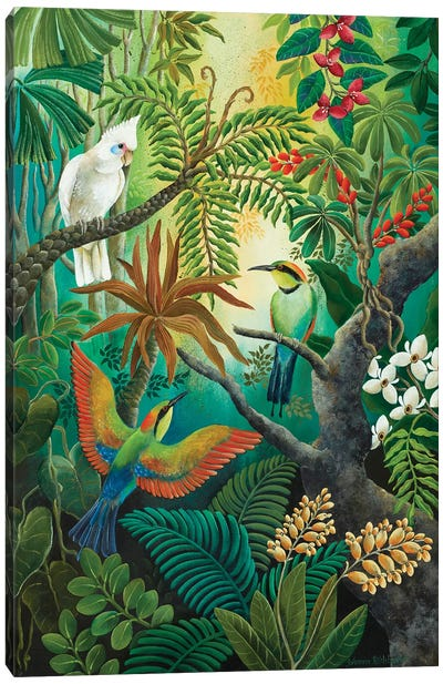 High Up In The Branches Canvas Art Print