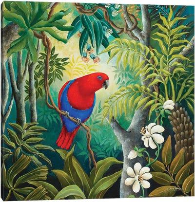 Parrot At Daybreak Canvas Art Print