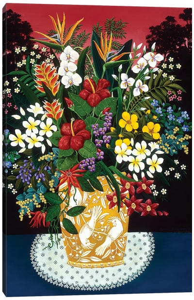 Tropical Arrangement Canvas Art Print