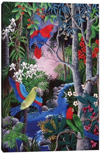 Tropical Parrots Canvas Art Print