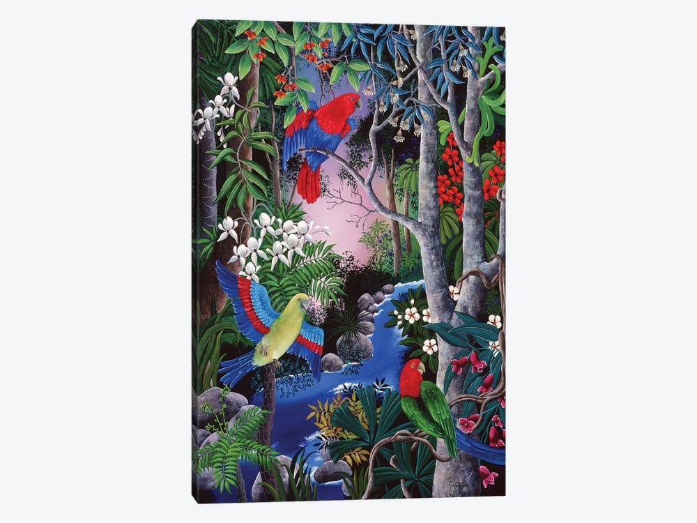 Tropical Parrots by Johanna Hildebrandt 1-piece Canvas Art Print