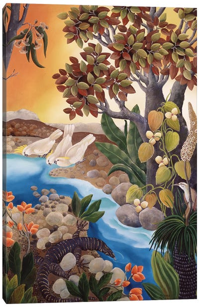 Creekbed Canvas Art Print