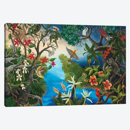 Dusk In The Forest Canvas Print #JHL5} by Johanna Hildebrandt Canvas Art