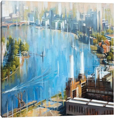 Downstream From Battersea Canvas Art Print
