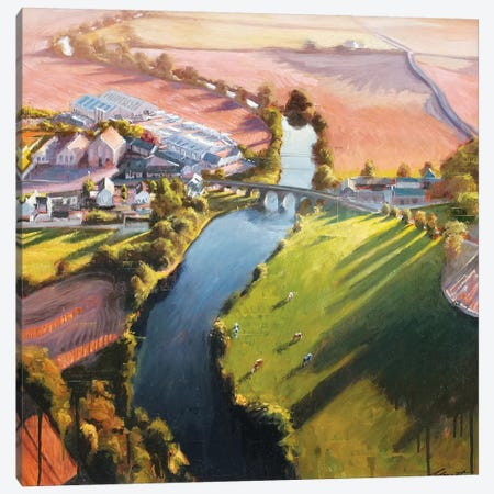 Meandering River Canvas Print #JHM21} by Johnny Morant Canvas Wall Art