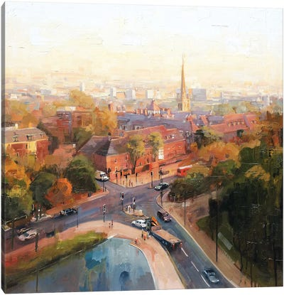 Overlooking Hampstead Canvas Art Print