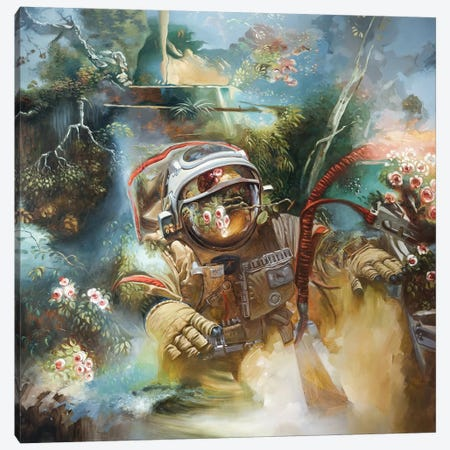 The Anthropocene Canvas Print #JHM27} by Johnny Morant Art Print