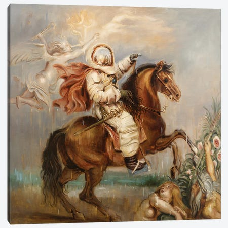 Allegory Of Hubris Canvas Print #JHM3} by Johnny Morant Canvas Artwork