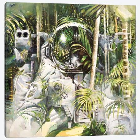 Bamboo Forest Canvas Print #JHM5} by Johnny Morant Canvas Print