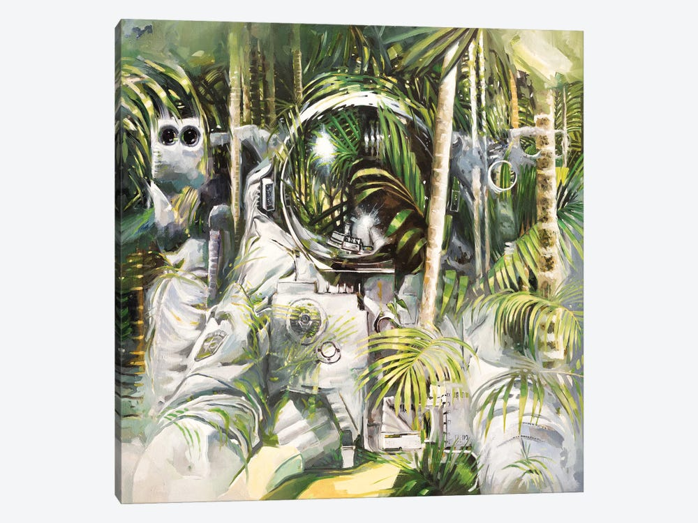 Bamboo Forest by Johnny Morant 1-piece Canvas Print