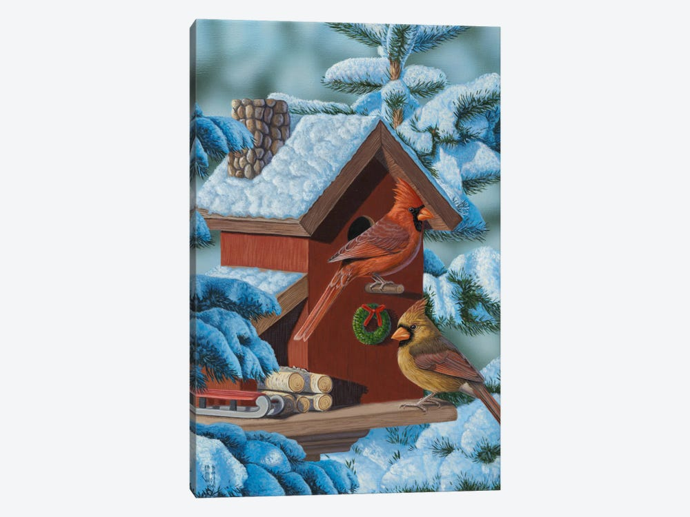 Christmas Cards by Jeffrey Hoff 1-piece Canvas Artwork