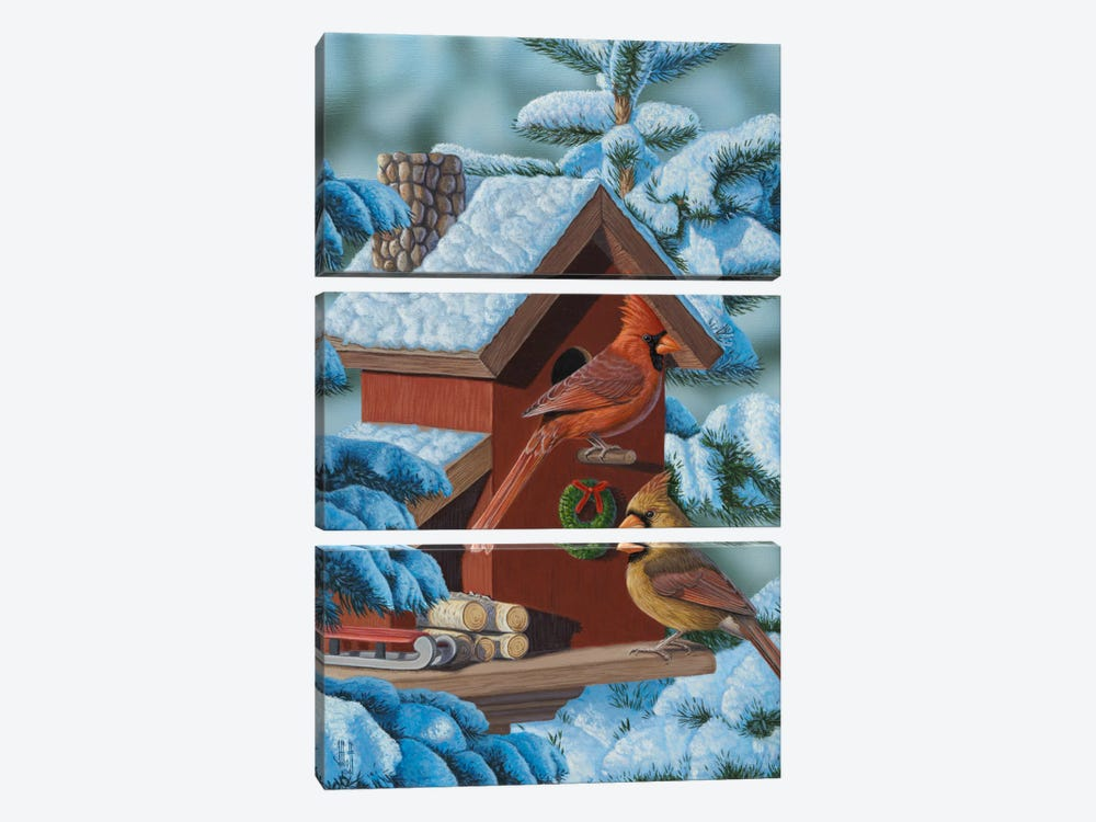 Christmas Cards by Jeffrey Hoff 3-piece Canvas Art