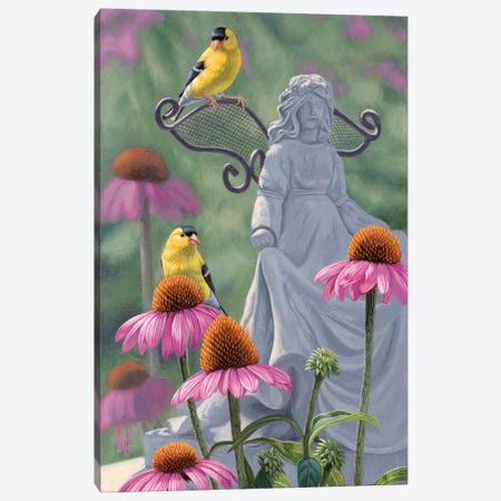 Garden Angels Canvas Print #JHO17} by Jeffrey Hoff Canvas Artwork