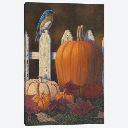 Autumn Bluebird Canvas Print #JHO1} by Jeffrey Hoff Canvas Wall Art