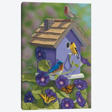 Primarys & Butterflies Canvas Print #JHO37} by Jeffrey Hoff Canvas Artwork