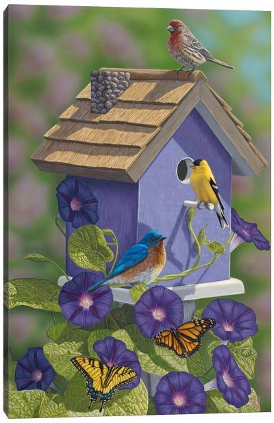 Primarys & Butterflies Canvas Art Print
