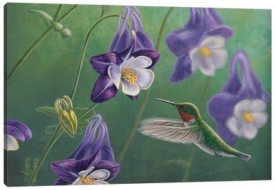 Ruby & Lavender Canvas Art Print