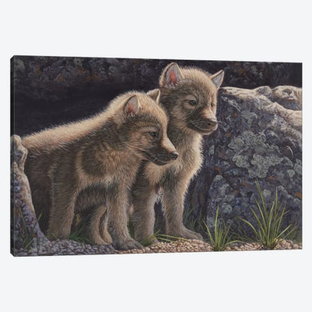 Spring Arrivals 3-Piece Canvas #JHO44} by Jeffrey Hoff Canvas Art Print