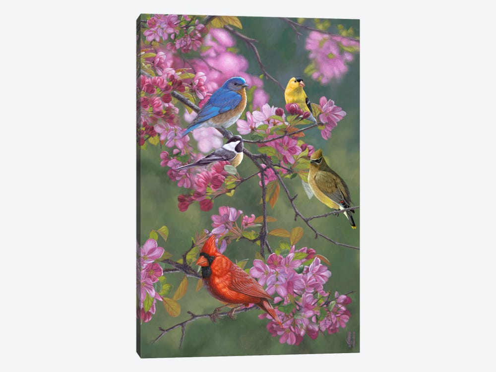 Birds & Blossoms by Jeffrey Hoff 1-piece Canvas Artwork