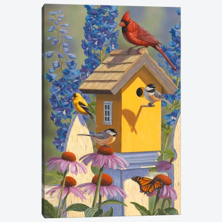 The Yellow Bird House Canvas Print #JHO50} by Jeffrey Hoff Canvas Art Print