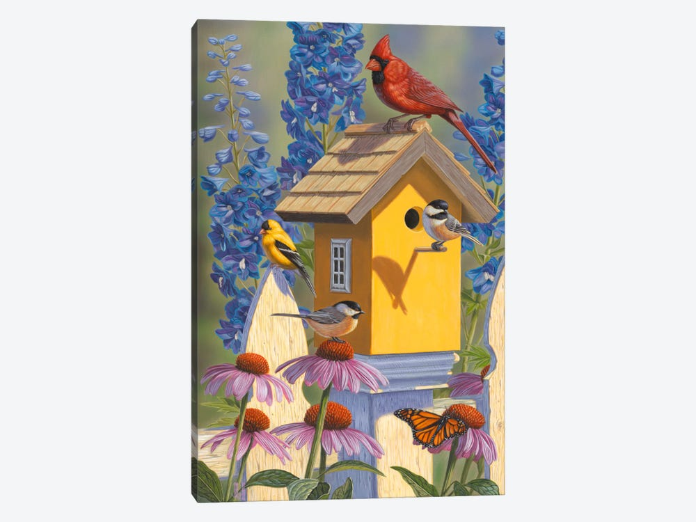 The Yellow Bird House by Jeffrey Hoff 1-piece Canvas Art Print