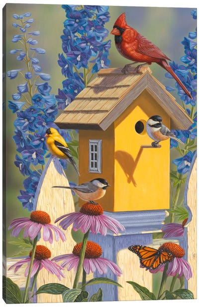 The Yellow Bird House Canvas Art Print