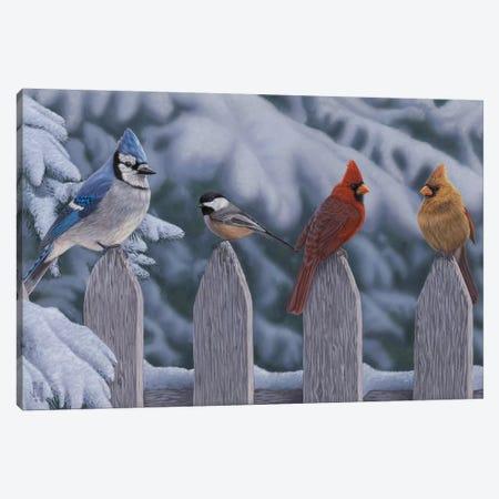Winter Birds Canvas Print #JHO55} by Jeffrey Hoff Canvas Wall Art