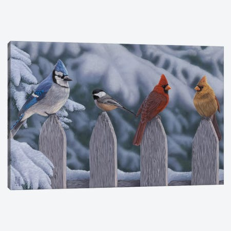Winter Birds Canvas Print #JHO55} by Jeffrey Hoff Canvas Wall Art