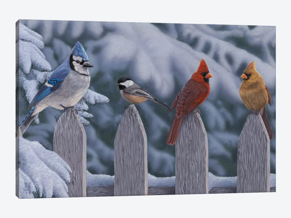 Winter Birds by Jeffrey Hoff 1-piece Canvas Art