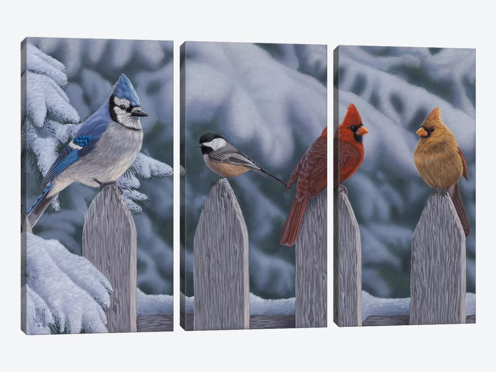 Winter Birds by Jeffrey Hoff 3-piece Canvas Art