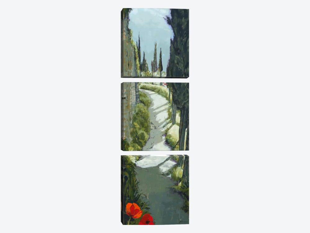 Around The Bend by Jane Henry Parsons 3-piece Canvas Art