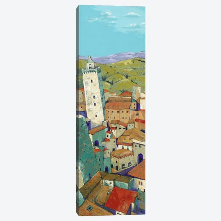 Rooftops Of San Gimignano Canvas Print #JHP5} by Jane Henry Parsons Canvas Art Print