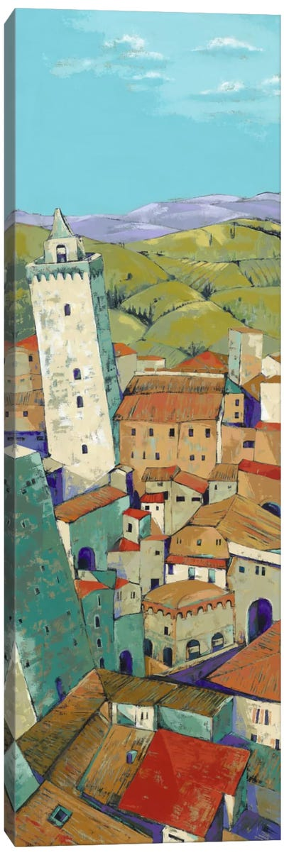 Rooftops Of San Gimignano Canvas Art Print