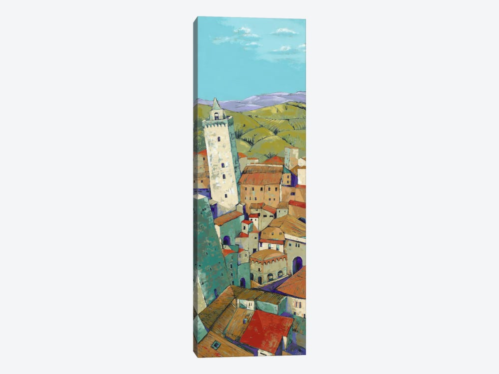 Rooftops Of San Gimignano by Jane Henry Parsons 1-piece Canvas Wall Art