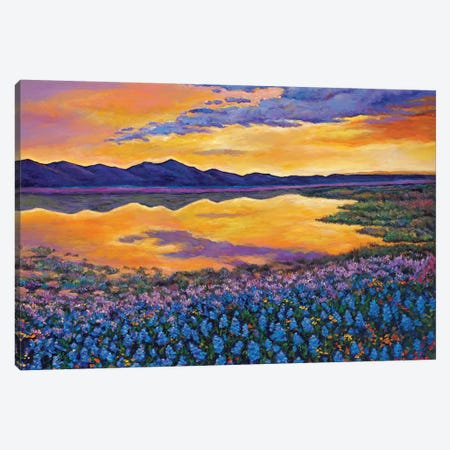 Blue Bonnet Rhapsody Canvas Print #JHR13} by Johnathan Harris Canvas Wall Art