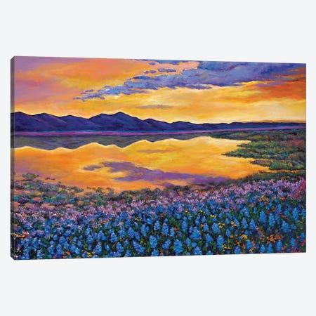 Blue Bonnet Rhapsody Canvas Print #JHR13} by Johnathan Harris Canvas Wall Art