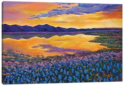 Blue Bonnet Rhapsody Canvas Art Print