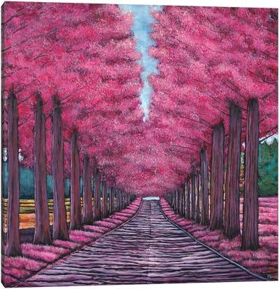 Emerald Avenue Canvas Art Print